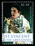 Michael Jackson Postage Stamp. ST. VINCENT - CIRCA 2010: A postage stamp printed in Saint Vincent showing Michael Jackson, circa 2010 Stock Photography