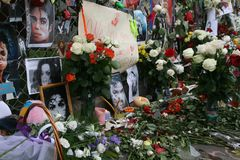 Michael Jackson's death. Reaction of Moscow fans Royalty Free Stock Photos