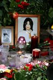 Michael Jackson S Death. Reaction Of Moscow Fans Royalty Free Stock Image