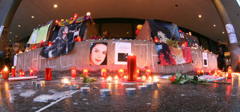 Michael Jackson's remembrance in Cologne. Michael Jackson's requiem and in Cologne, Germany stock images