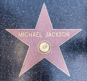 Michael Jackson's star Royalty Free Stock Image