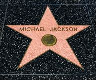 Michael Jackson`s Star, Hollywood Walk of Fame - August 11th, 2017 - Hollywood Boulevard, Los Angeles, California, CA royalty free stock images