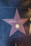 Michael Jackson's star on Hollywood Walk of Fame Stock Photography
