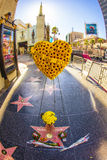 Michael Jackson's Star on the Hollywood Walk of Fame. LOS ANGELES - JUNE 26: Michael Jackson's star on the Hollywood Walk of Fame as fans  remember the artist Royalty Free Stock Photos
