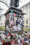 Michael Jackson Shrine. An unofficial Michael Jackson shrine in Munich Germany Stock Photos