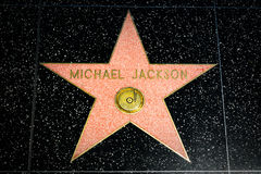 Michael Jackson Star on the Hollywood Walk of Fame Royalty Free Stock Photos
