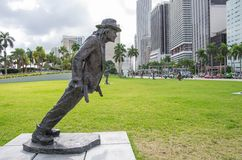 Michael Jackson statue inMiami Royalty Free Stock Photography