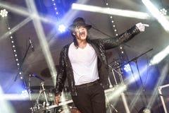 Michael Jackson Tribute Royaltyfri Fotografi
