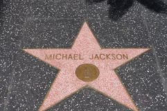 Michael Jackson, Walk of fame. The star of Michael Jackson in walk of fame, Hollywood, Los Angeles, CA royalty free stock image