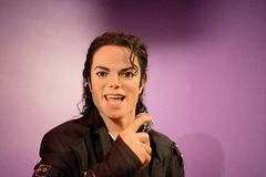 Michael Jackson Wax Figure. Michael Joseph Jackson (August 29, 1958 – June 25, 2009) was an American singer, songwriter, record producer, dancer, and actor. He Royalty Free Stock Photography
