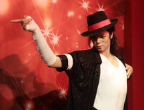 Michael Jackson. Wax statue at Madame Tussauds in London royalty free stock photo