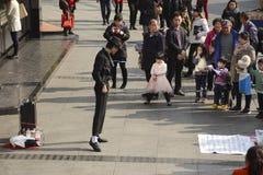Michael Jackson wykonawca - tłum behind Fotografia Royalty Free