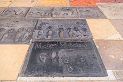 Michael Jacksons handprints Stock Photo