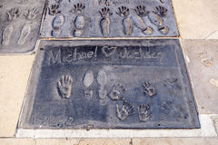 Michael Jacksons handprints Stock Image