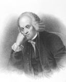 Michael Johnson. On engraving from the 1800s. English bookseller and father of Samuel Johnson. Engraved by E.Finden and published in London by J.Murray Royalty Free Stock Photography