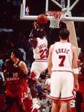 Michael Jordan ・芝加哥公牛队 免版税库存图片