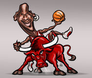 Michael Jordan caricature Royalty Free Stock Images