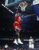 Michael Jordan Chicago Bulls. Michael Jordan Hall of Fame player for the Chicago Bulls in game action during the NBA regular season game royalty free stock image