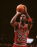 Michael Jordan. Chicago Bulls legend Michael Jordan taking a free throw. (Image taken from color slide Stock Images