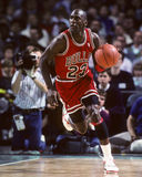 Michael Jordan. Chicago Bulls legend Michael Jordan taking a free throw. (Image taken from color slide Stock Photography