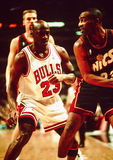 Michael Jordan Chicago tjurar Royaltyfria Bilder