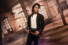 Michael Jackson, wax sculpture, Madame Tussaud. Michael Joseph Jackson was an American singer, songwriter, and dancer. Dubbed the King of Pop, he was one of the royalty free stock photo