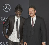 Michael K Williams och Michael Fassbender Royaltyfria Bilder