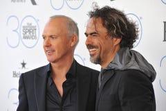 Michael Keaton & Alejandro Gonzalez Inarritu Royalty Free Stock Photos