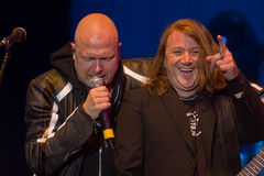Michael Kiske and Kai Hansen (Unisonic). Unisonic on Masters of Rock 2012 Royalty Free Stock Images