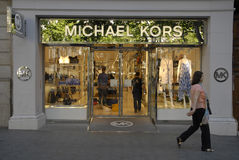 MICHAEL KORS BOUTIQUE Royalty Free Stock Photography