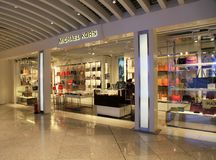 Michael Kors duty free shop at airport in Athens, Greece royalty free stock photos