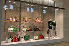 Michael Kors Fashion Store. Spring 2014 Collection Stock Images