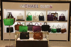 Michael Kors Handbag Fashion Store Stock Foto's