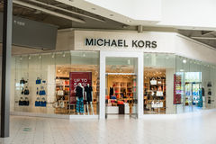 Michael Kors. Store entrance at the mall royalty free stock photo