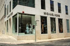 Michael Kors store in Lisbon. Michael Kors store located on a prestigious Avenida da Liberdade in Lisbon, the capital of Portugal Stock Image
