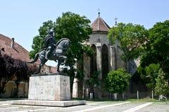 Michael la statua coraggiosa, Alba Iulia Fotografia Stock Libera da Diritti