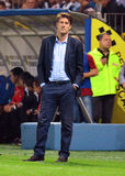 Michael Laudrup σε Petrolul ploiesti-Σουώνση FC Στοκ Εικόνες
