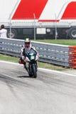 Michael Laverty sur l'équipe de Paul Bird Motorsport Photos stock