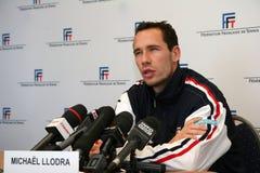Michael Llodra de los tennisman franceses Foto de archivo libre de regalías