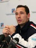 Michael Llodra de los tennisman franceses Fotografía de archivo