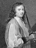 Michael Mohun. (1616-1684) on engraving from the 1800s. Leading British actor both before and after the closing of the theatres during 1642-1660. Engraved by S Stock Image