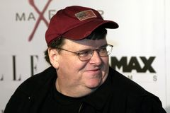 Michael Moore. At the Los Angeles Premiere of `The Aviator` held at the Grauman`s Chinese Theatre in Hollywood, California, United States on December 1, 2004 royalty free stock images