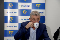 MICHAEL O'LEARY_CEOP RYANAIR Photographie stock