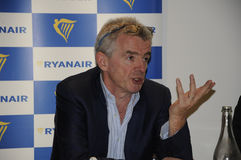 MICHAEL O'LEARY_CEOP RYANAIR Royalty Free Stock Images