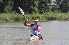 Michael Odvarko canoeist at The Unlimited Dusi Stock Photography