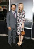 Michael Pena and Brie Shaffer royalty free stock images
