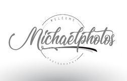 Michael Personal Photography Logo Design with Photographer Name. Michael Personal Photography Logo Design with Photographer Name and Handwritten Letter Design Royalty Free Stock Images