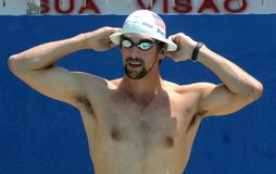 Michael Phelps Fotografia de Stock Royalty Free
