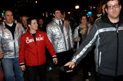 Michael Phelps and Alexandre Bilodeau Royalty Free Stock Image