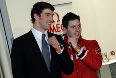 Michael Phelps and Alexandre Bilodeau Stock Photos